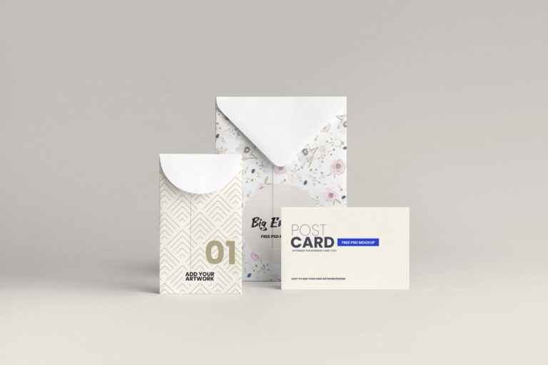 Envelope Stationery Free Mockup