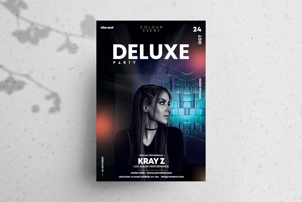 Deluxe Party Free PSD Flyer Template