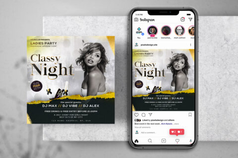 Classy Event Free Instagram Banner Template (PSD)