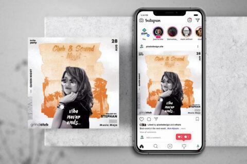 Concert Artist Free Instagram Banner Template (PSD)