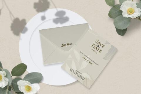 Envelope & Card Free Mockup