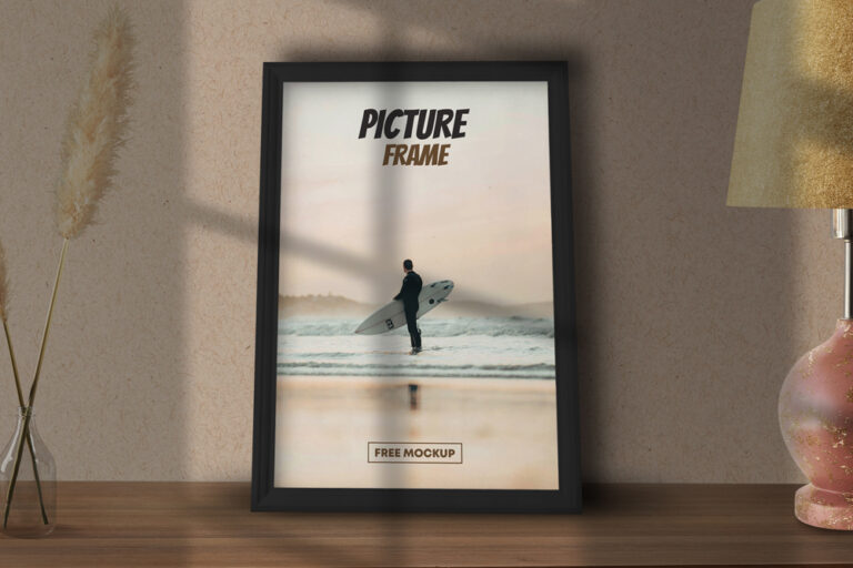 Picture Poster Frame Free Mockup