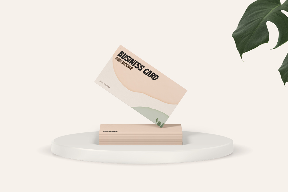 Standing Business Card Free Mockup