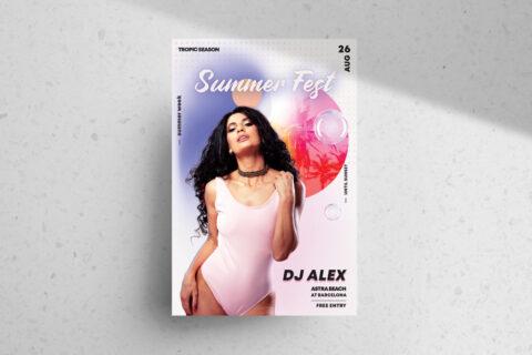 Summer Fest Free PSD Flyer Template