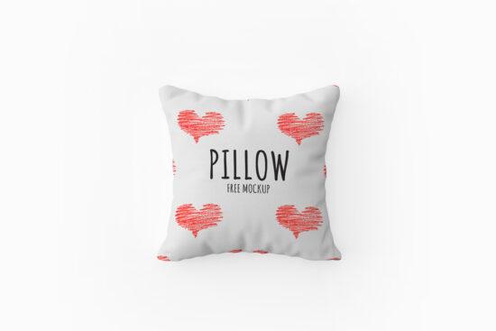 Top View Pillow Free Mockup