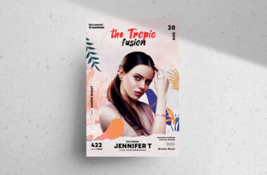 Tropic Fusion Free PSD Flyer Template