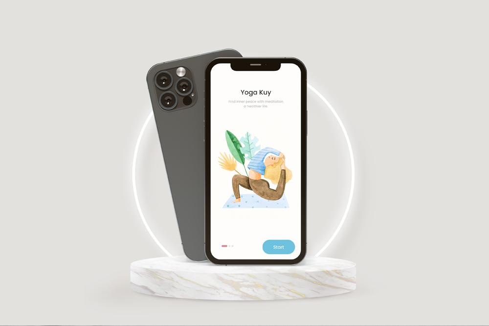UI Showcase in iPhone 12 Free Mockup