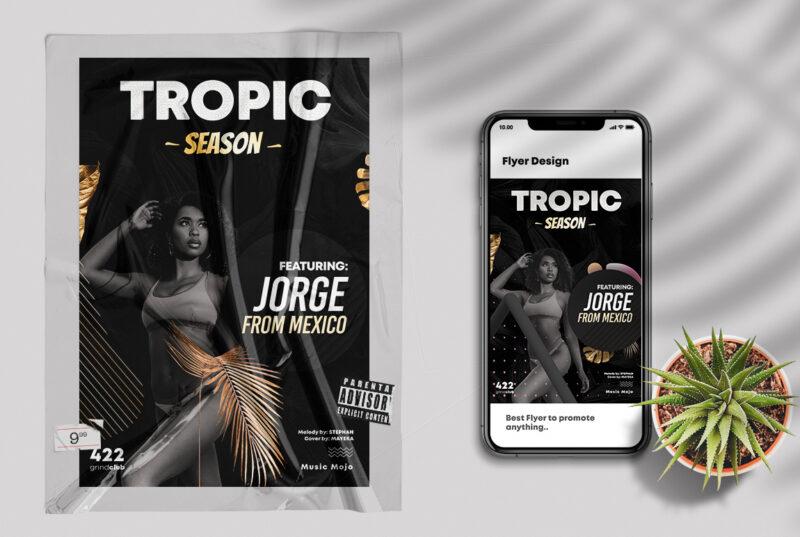 Elegant Tropical PSD Flyer Template