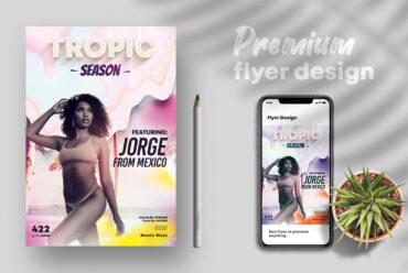Tropic Season PSD Flyer Template