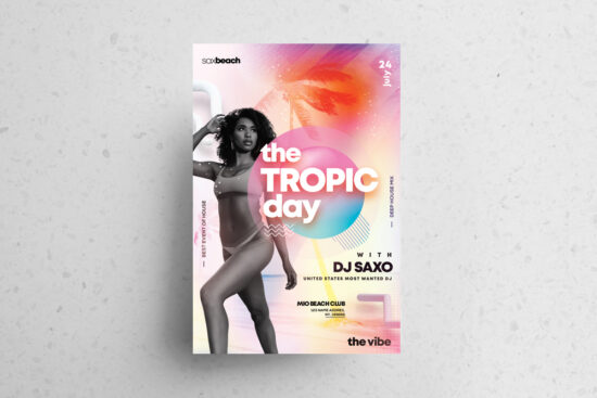 The Tropic Party Free PSD Flyer Template