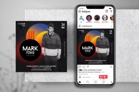 Club Artist Event Free Instagram Banner Template (PSD)