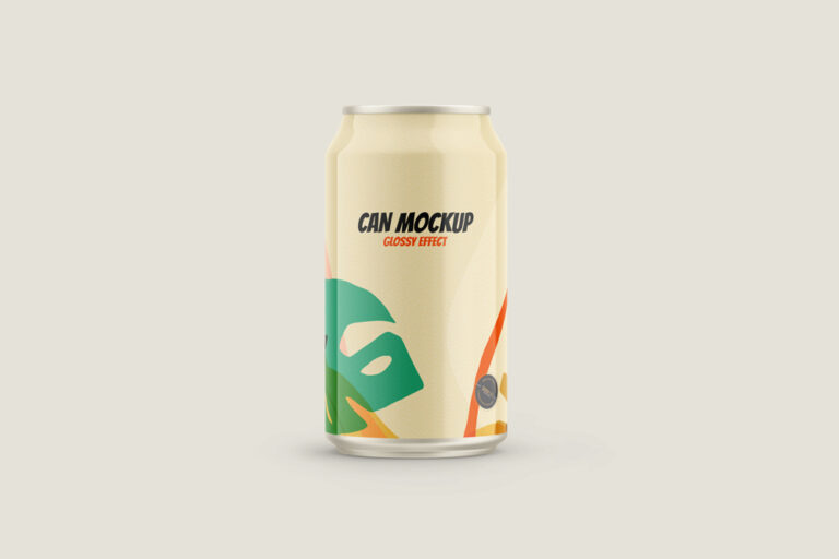 Glossy Can Drink Free Mockup