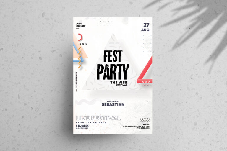 Festival Party Free PSD Flyer Template