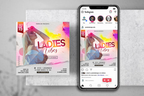 Ladies Party Free Instagram Banner (PSD)