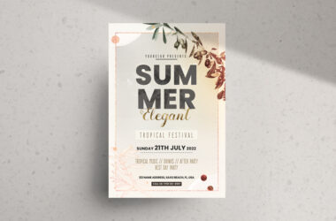 Summer Elegant Party Free PSD Flyer