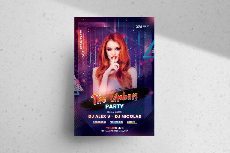 The Urban Party Free PSD Flyer Template
