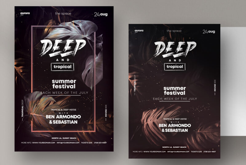 Deep & Tropical PSD Flyer Templates