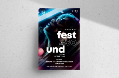 The Festival Party Free PSD Flyer Template