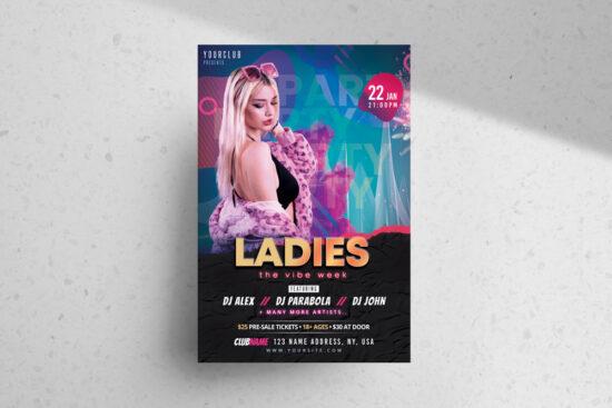 Ladies Week Party Free PSD Flyer Template