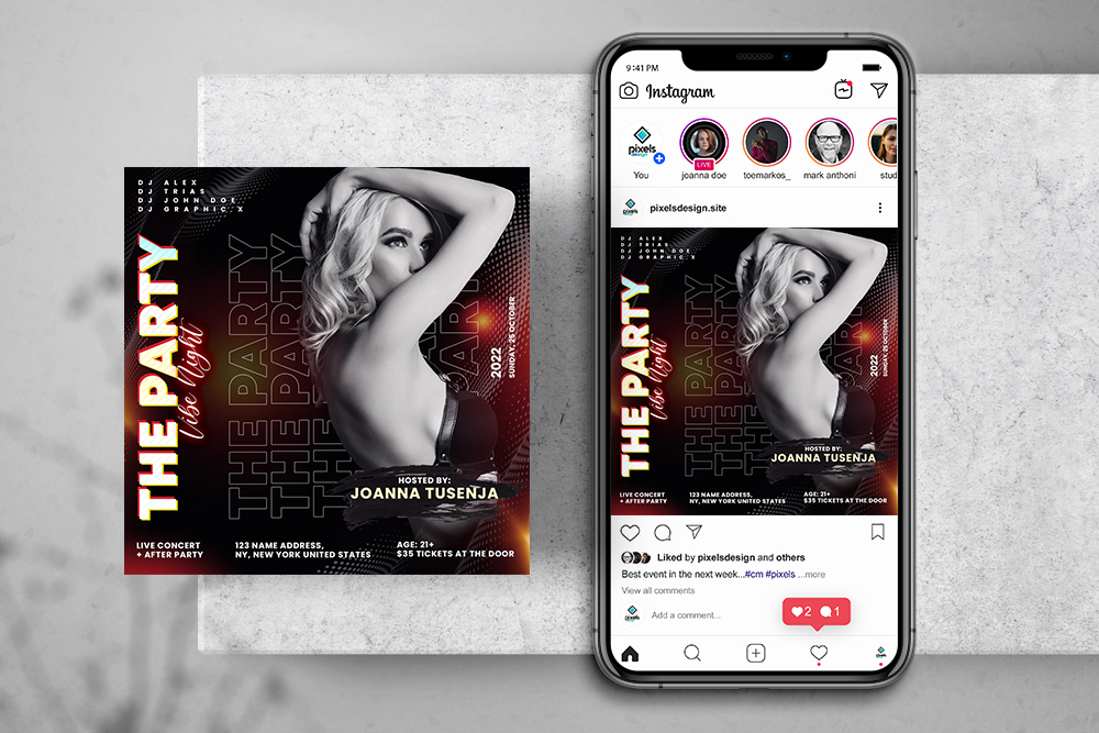 Nightout Party Free Instagram Banner (PSD)