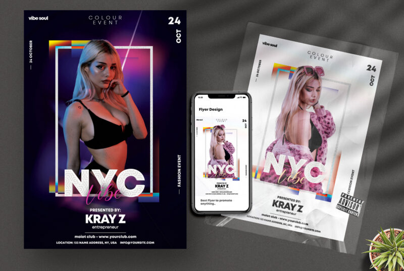NYC Vibe Party PSD Flyer Templates