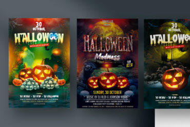 35% OFF - 3 Halloween Party Flyers (PSD)