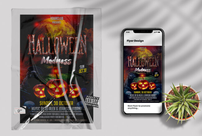 Halloween Madness PSD Flyer Template