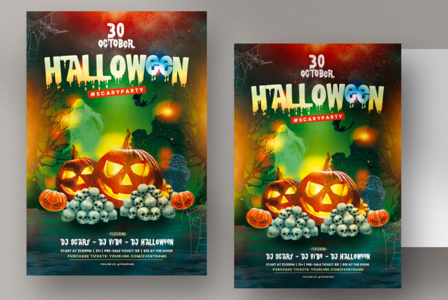Halloween Party Flyer Template (PSD)