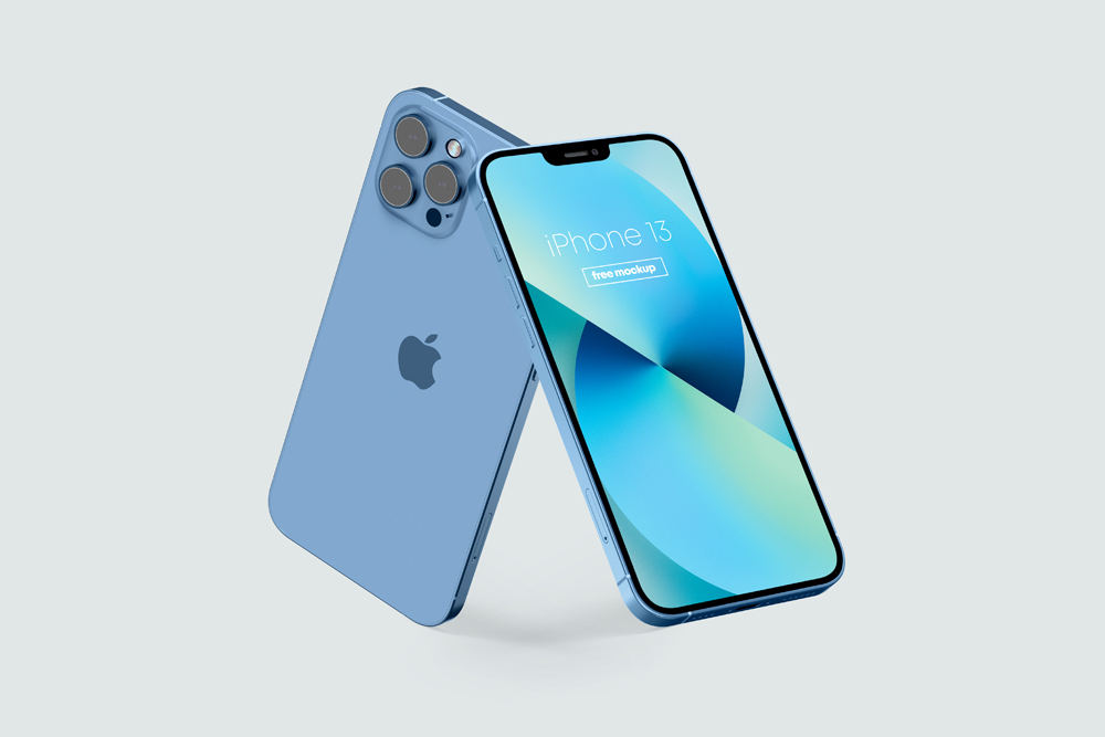 iPhone 13 (All Colors) Free Mockup