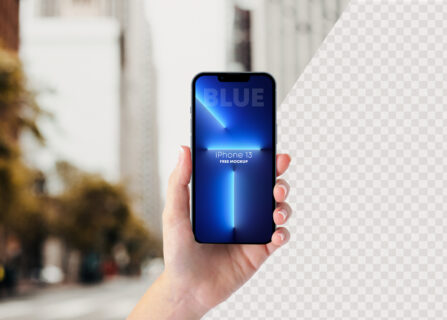 iPhone 13 PRO In Hand Free Mockup