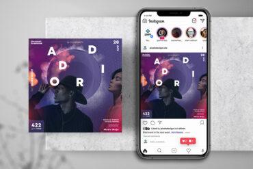 Club DJ Vibe Instagram PSD Templates