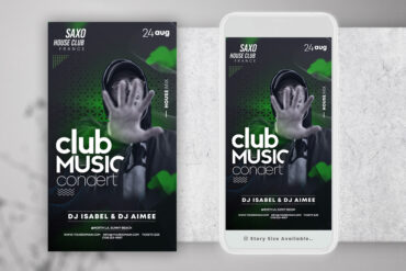 Club Music Party Instagram PSD Templates