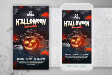 Halloween DJ Night Instagram PSD Templates