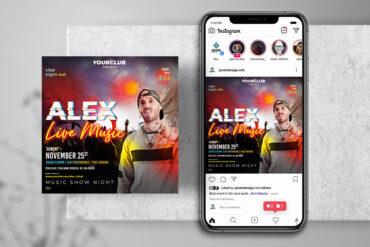 Live Music Show Instagram PSD Templates