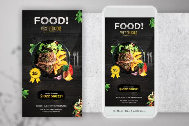 Restaurant Food Ad Instagram PSD Templates