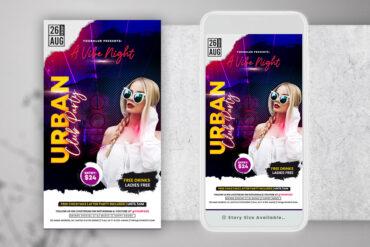 Urban Ladies Party Instagram PSD Templates