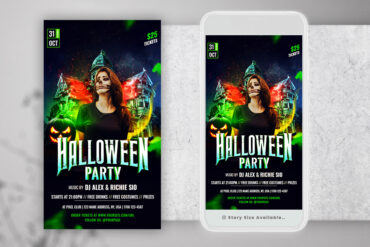 Haunted House Halloween Instagram PSD Templates