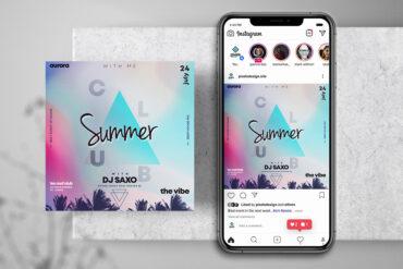 Minimalist Tropical Event Instagram PSD Templates