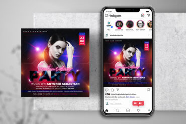 Saturday Girls Party Instagram PSD Templates